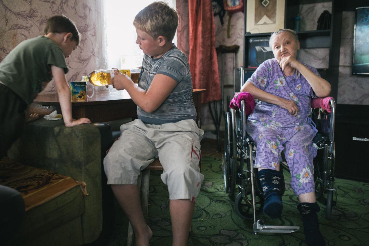 Ольга Васильева с семьей